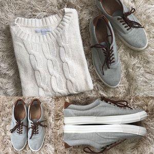 Gray Canvas & Faux Leather Joe Fresh Sneakers